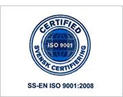 SS-EN ISO 9001:2008 certifierad