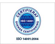 SS-EN ISO 14001:2004 certifierad